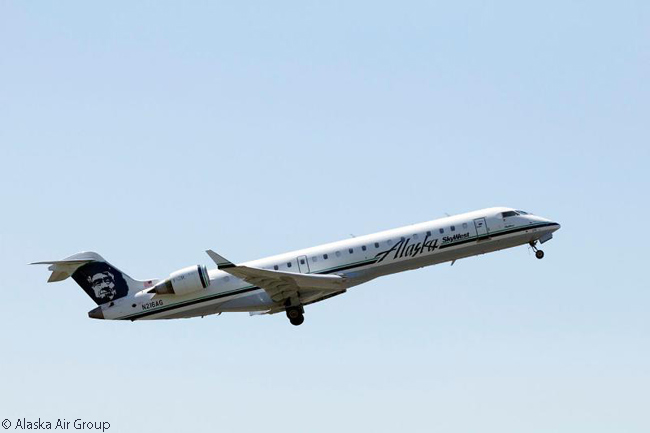 SkyWest Airlines operates a number of Bombardier CRJ700 jets on behalf of Alaska Airlines. Each of the CRJ700s is configured to seat 70 passengers