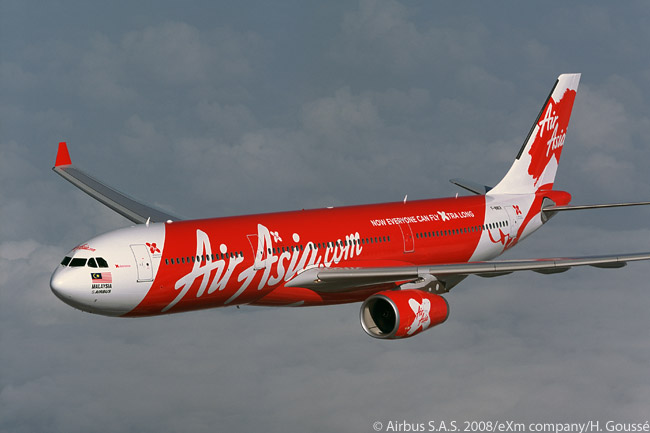 In its early days AirAsia X operated some Airbus A330-200 jets but later replaced all of them with longer-fuselage, higher-capacity A330-300s