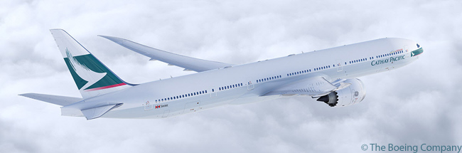 On December 20, 2013, Hong Kong's Cathay Pacific Airways announced it had ordered 21 Boeing 777-9Xs, becoming the fifth customer to place an order for the new Boeing 777X family