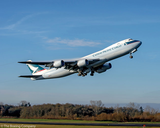 On December 18, 2013, Boeing delivered the first 747-8 with performance-improved GEnx-2B engines as part of the Performance Improvement Package (PIP) for the 747-8. A Cathay Pacific Airways 747-8 Freighter was the first 747-8 to be delivered with the updated PIP engines
