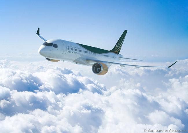 On January 16, 2014, Bombardier Aerospace announced that Saudi Arabia's Al Qahtani Aviation Company had signed a firm purchase agreement for 16 Bombardier CS300 jets and had taken options for an additional 10 CS300s. The aircraft would be operated by SaudiGulf Airlines, a newly launched national carrier for the Kingdom of Saudi Arabia and a sister company of Al Qahtani Aviation Company