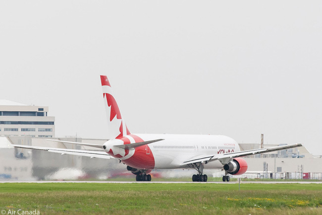 An Air Canada rouge Boeing 767-300ER is seen here performing its take-off roll