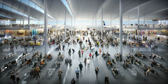CGI of Heathrow, the new Terminal 2A © Courtesy of Luis Vidal Architects
