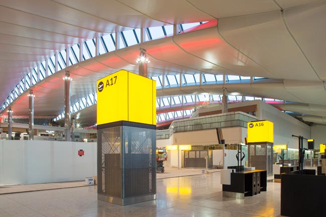 Heathrow, the new Terminal 2A (main terminal building), nearing completion, October 2013 © LHR Airports Limited