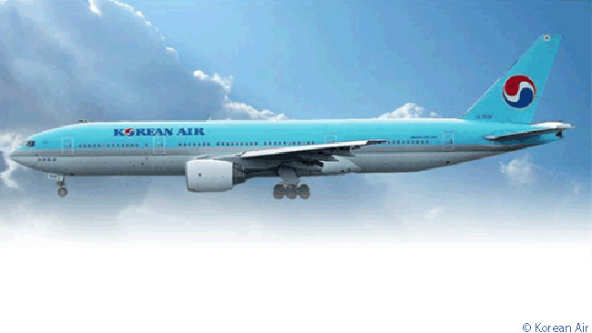 Korean Air operates 18 Boeing 777-200ERs