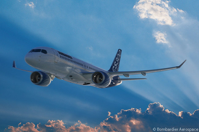 The Bombardier CSeries passed the 200-firm-order milestone on February 10, 2014, with an order from an existing but unidentified customer for another three CS300s. The CS300 is the larger of the two initially planned versions of the CSeries family