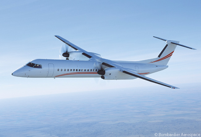 On February 10, 2014, Abu Dhabi-based private operator Falcon Aviation Services ordered two Bombardier Q400 NextGen regional airliners