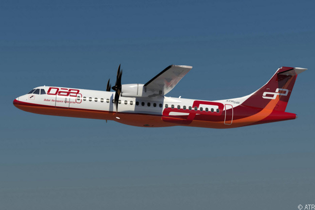 On February 12, 2014, at the Singapore Airshow 2014, Dubai Aerospace Enterprise ordered 20 ATR 72-600s and optioned 20 more. The deal was the leasing company'ss first order for regional airliners