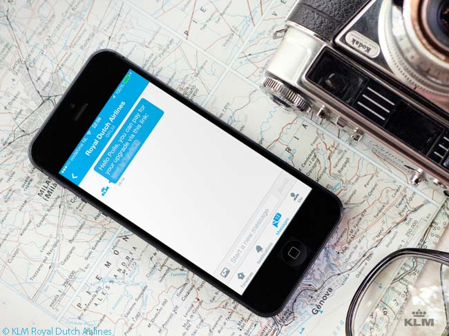 KLM Royal Dutch Airlines claims to have been the first airline in the world to create a payment method which allows customers to pay via social media channels
