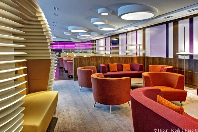 The Executive Lounge on the ninth floor of the Hilton Frankfurt Airport is very large for a facility of its kind and is beutifully furnished and appointed. It also contains Business Center facilities and is located next to three business meeting rooms which are also on the ninth floor