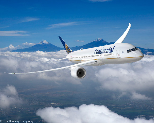 On March 12, 2007, before merging with United Airlines, Continental Airlines ordered five Boeing 787-9 Dreamliners and contracted to convert 12 previously ordered 787-8 jetliners to the larger 787-9s. Subsequently, United added orders for seven more 787-9s, for a fleet total of 24 by February 2014. As of then, United had a total of 65 Boeing 787s in service or on order, including 20 787-10s