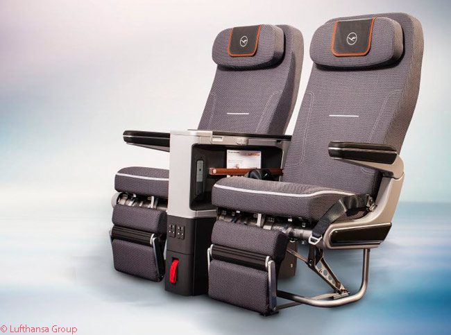The seats in Lufthansa's long-haul Premium Economy Class offer more legroom, more comfort and more storage space than do the seats in Economy, according to the airline