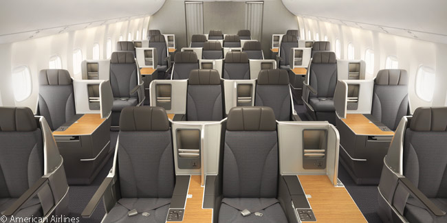 Every passenger in the Business Class cabin on American's retrofitted Boeing 767-300ERs has direct aisle access