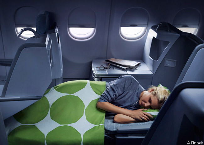 Finnair expects all the Business Class cabins in all of its long-haul aircraft to be outfitted with fully reclining flat-bed seats by 2015