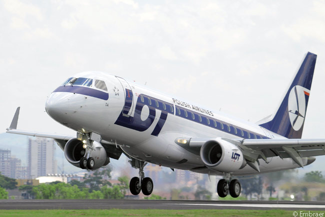 LOT Polish Airlines was the first carrier to operate a commercial flight with an Embraer E-Jet when, on March 17, 2004, the airline flew its first Embraer 170 from Warsaw to Vienna on revenue service
