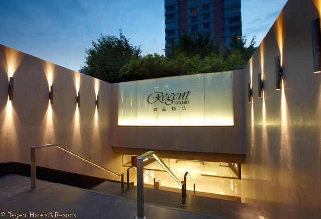 The Regent Taipei sits directly atop the Regent Galleria, a five-story shopping mall on Taipei's Zong Shan North Road