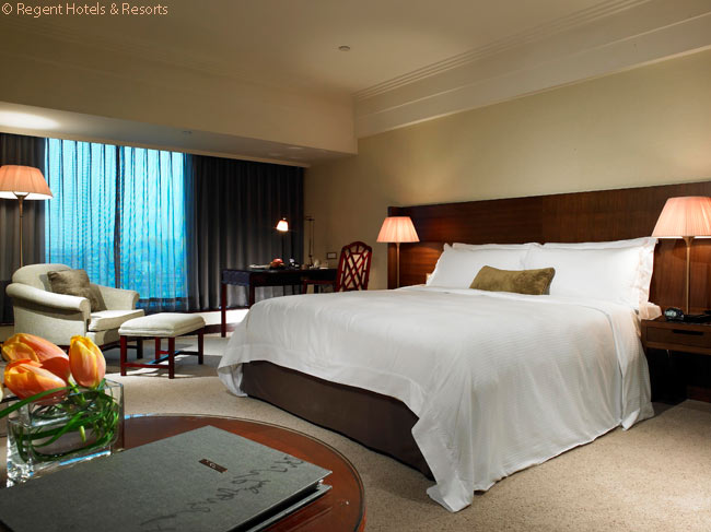 This is one of the Superior rooms in the Regent Taipei