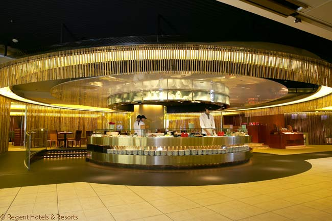 The Regent Taipei has seven restaurants open to hotel guests and locals. This is its Restaurant Brasserie