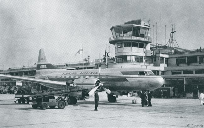 By 1953, Finnair's predecessor carrier Aero Oy was operating Convair 340 twin-engine piston airliners