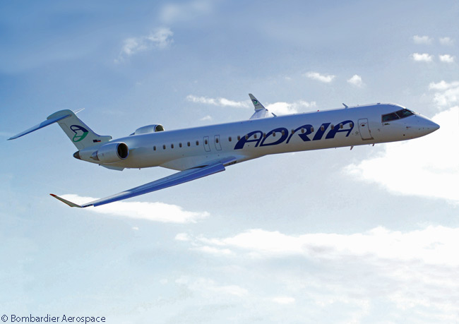 On March 27, 2014, Slovenia's flag carrier Adria Airways ordered two Bombardier CRJ900 NextGen regional jets, to add to two CRJ200s, two CRJ900s and two CRJ900 NextGens it already had in service