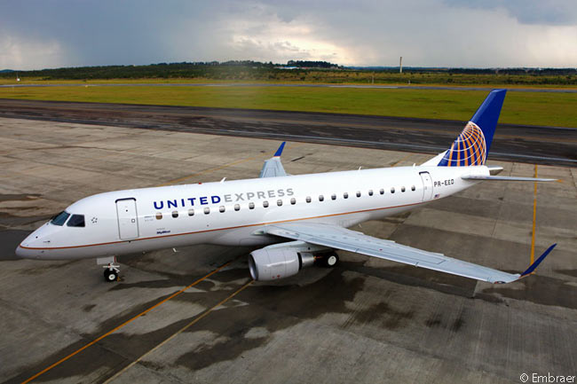 SkyWest, Inc. took delivery on March 27, 2014 of the first of 40 Embraer 175 regional jets it had on firm order. The aircraft was to be operated by subsidiary SkyWest Airlines on behalf of United Airlines, under a United Express franchise