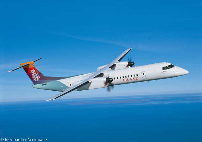 On March 31, 2014, new Bombardier Q-family customer Hawaii Island Air, Inc. placed a firm order for two Q400 NextGen turboprop airliners and took options on four more