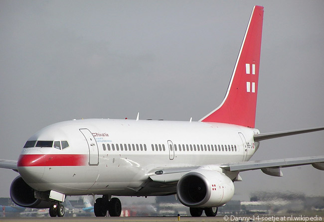 Swiss charter carrier PrivatAir operates a Boeing BBJ1 ‒ the executive-jet version of the Boeing 737-700ER ‒ in all-business class configuration on behalf of various airlines. It also operates a BBJ2, an executive-jet version of the 737-800, on similar services