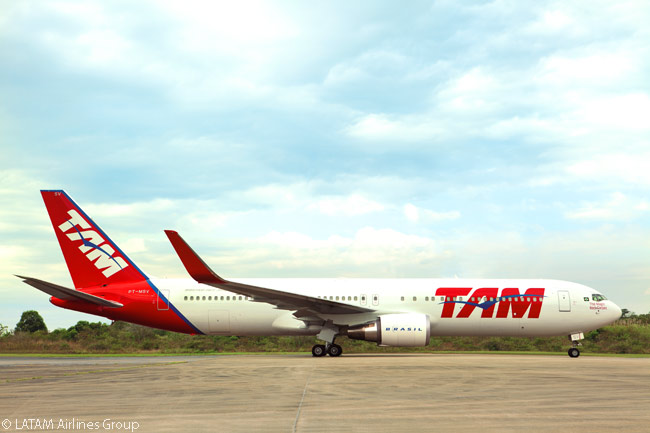 Brazil's TAM Airlines, a member of the LATAM Airlines Group, operates a growing number of Boeing 767-300ERs on its long-haul routes, as well as Airbus A330-200s and Boeing 777-300ERs. TAM also has 27 Airbus A350-900s on order