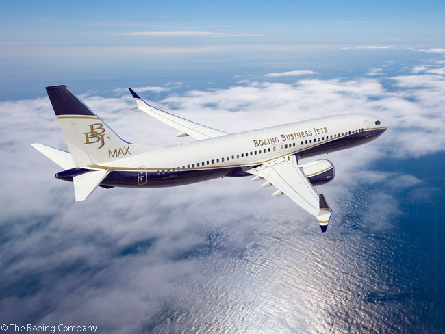 On April 2, 2014, Boeing launched the Boeing Business Jet (BBJ) MAX family of business jets after receiving the first order from an undisclosed customer. The order was for a BBJ MAX 8, which is based on the 737 MAX 8