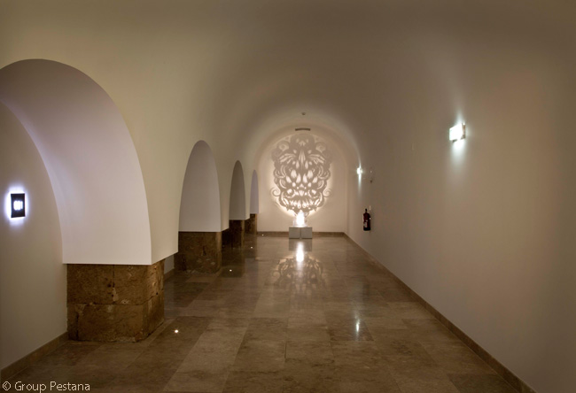Resident artist Paulo Arraiano also created the art in this 'Pousada Take Over' space in the Pousada Cascais – Cidadela Historic Hotel & Art District. This is the ground-floor corridor leading to the hotel's Junior Suites
