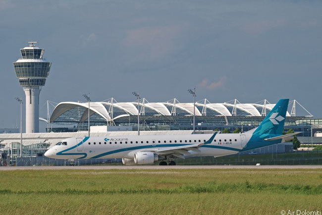 Although it is headquartered and has its main base at Verona and considers itself a thoroughly Italian airline, Air Dolomiti's only hub is at Munich Airport. There it feeds Lufthansa Group sibling carrier Lufthansa with Lufthansa-branded flights under a wet-lease agreement, as well as offering flights under its own brand