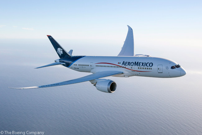 AeroMexico's first group of Boeing 787s, all of them leased, includes nine Boeing 787-8s. The carrier received its first 787-8 on August 16, 2013