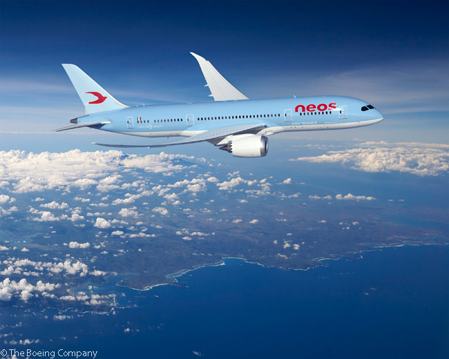 On May 13, 2014, Boeing, leasing company ILFC and Italian airline Neos announced that Neos would become a new operator of the Boeing 787 with the leases of two 787-8s from ILFC in 2018