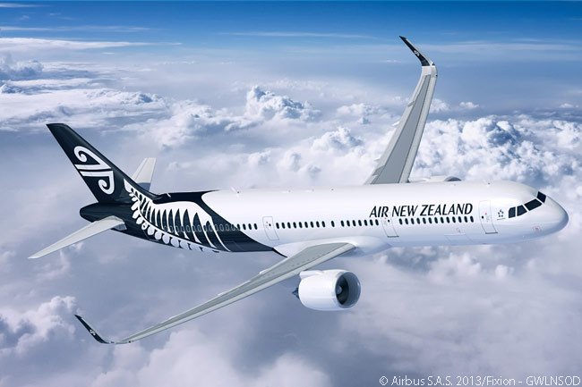 On June 2, 2014, Air New Zealand ordered Airbus A321 aircraft for the first time, specifying three A321neos in a larger order which also included 10 A320neos and an A320