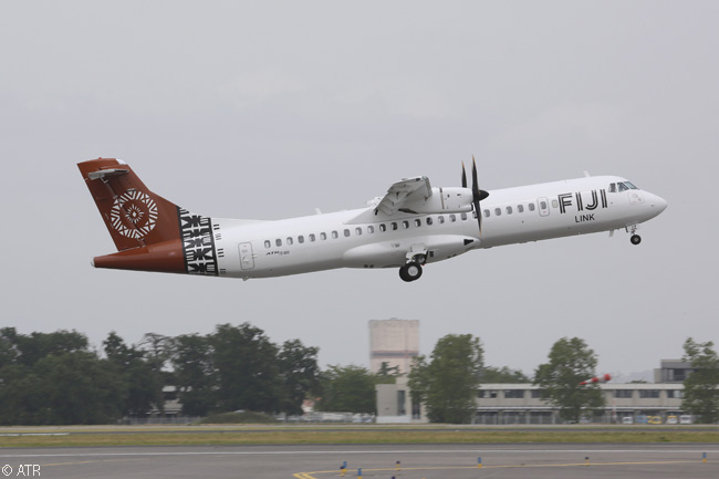 Fiji Link, Fiji Airways' domestic and regional subsidiary, took delivery of its first ATR 72-600 in early June 2014, on operating lease from Singapore-based leasing company Avation PLC