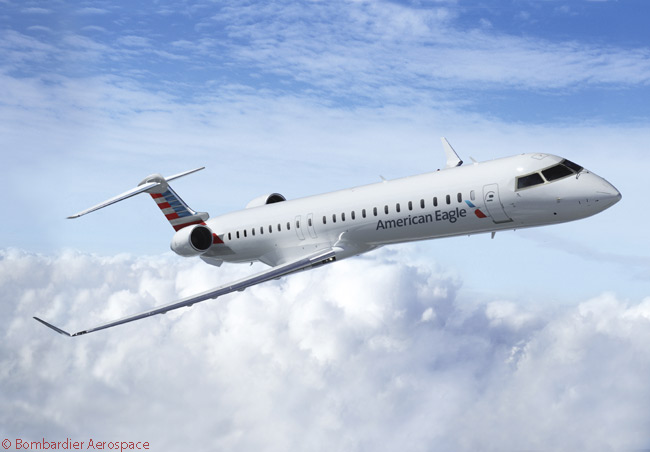 Bombardier Aerospace delivered the first of 30 enhanced CRJ900 NextGen regional jets to American Airlines Group Inc. on June 5, 2014. The aircraft are for operation by group subsidiary PSA Airlines, Inc.