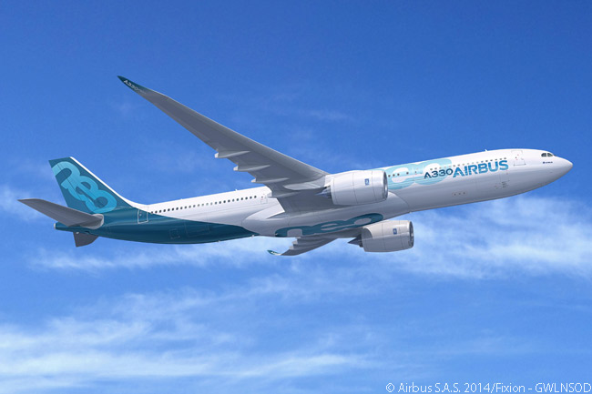 A development of the A330-300, the re-engined A330-900neo is 14 per cent more fuel-efficient than its direct predecessor. Featuring an optimized cabin interior, the A330-900neocan carry 10 more passengers than the A330-300, fly 400 nautical miles farther (giving it a maximum range of 6,550 nautical miles with a full load) and yet produce half as much take-off and landing noise