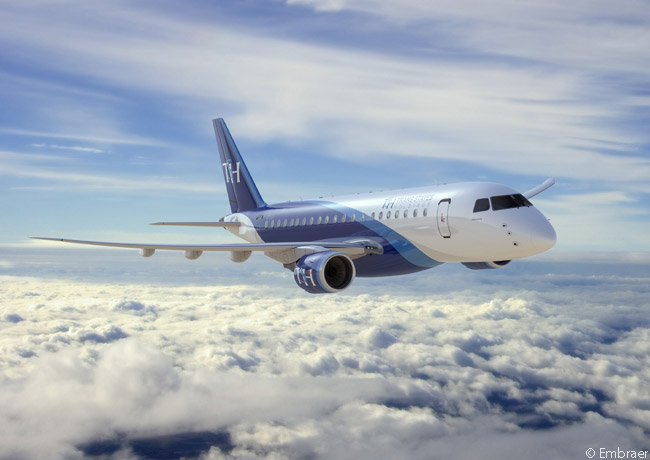 On July 14, 2014, U.S. regional-airline holding company Trans States Holdings placed an order for 50 Embraer 175-E2 jets and optioned 50 more. Embraer announced the order during the first day of the Farnborough International Airshow 2014