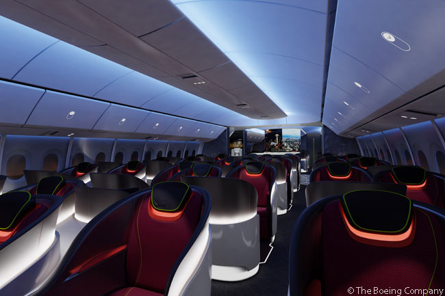Boeing plans to apply cabin innovations developed for the 787 to the 777X family, its updated versions of the original 777 family. But when Boeing first announced in July 2014 the 787-like cabin innovations it intended to adopt in the 777X, it was not clear how the company could adopt some of those innovations for a metal-fuselage aircraft in which corrosion would be possible and which would be less resistant to high cabin pressure than the 787. The 787 and competing Airbus A350 XWB are able to offer features (all planned for the 777X) such as a lower cabin altitude, larger cabin windows and higher cabin humidity levels because they have corrosion-proof, highly pressure-resistant fuselages made entirely from carbon-fiber composite materials