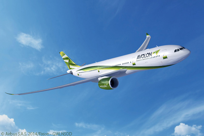 Dublin-based leasing company Avolon was one of three customers to announce it had signed a memorandum of understanding for the new Airbus A330neo family on July 15, 2014, at the Farnborough International Airshow. Avolon's MOU was for 15 A330neo jets of unspecified model, but its commitment almost certainly included some A330-900neos