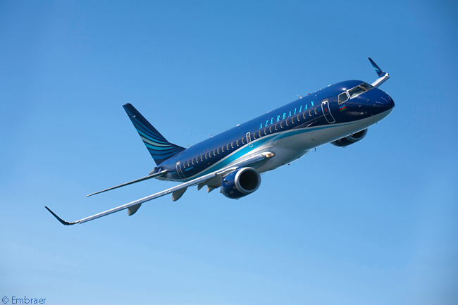 Embraer announced on the second day of the Farnborough International Airshow 2014 that Azerbaijan Airlines had ordered two more Embraer 190s to add to four already in service