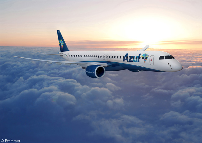 On July 15, 2014, on the second day of the Farnborough International Airshow, Embraer announced that Azul Linhas Aéreas Brasileiras had signed a letter of intent to order 30 Embraer 195-E2 jets and acquire purchase rights on 20 more