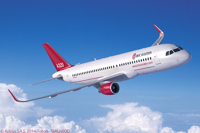 Lessor BOC Aviation included 36 A320ceo-family jets (all A320s and A321s) in an order it announced on July 15, 2014 at the Farnborough International Airshow for 43 A320-family aircraft. The other seven aircraft in the order were A320neo-family jets