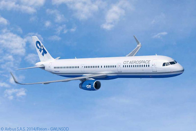 Along with a much bigger MOU commitment for 15 A330-900neo widebodies, lessor CIT Group Inc. signed a memorandum of understanding on July 15, 2014 at the Farnborough International Airshow for five Airbus A321s