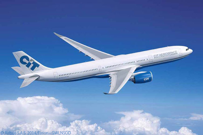 CIT Group Inc. signed a memorandum of understanding for 15 Airbus A330-900neo widebodies on July 15, 2014 at the Farnborough International Airshow, becoming one of four A330neo launch customers announced within two days of Airbus launching the program. Unusually, three of the first four launch customers were leasing companies