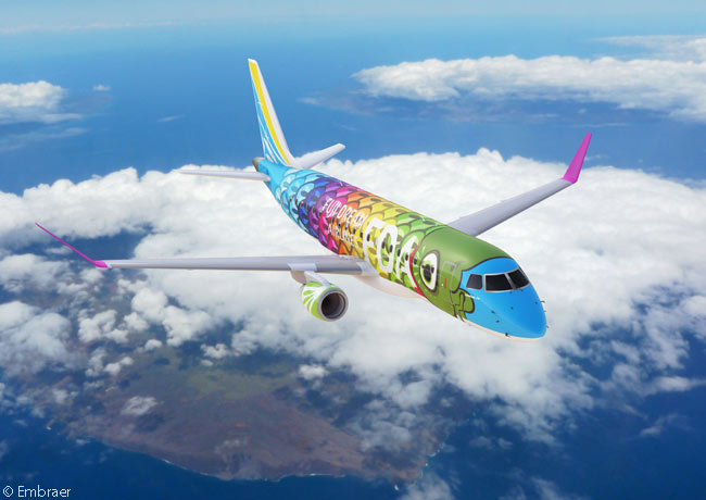 On July 15, 2014, Embraer revealed during the Farnborough International Airshow that Japan's Fuji Dream Airlines had ordered three more Embraer 175s and optioned three additional aircraft. Fuji Dream Airlines decorates each aircraft in its all-E-Jets fleet in remarkably colorful, different liveries