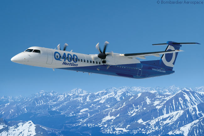 On July 15, 2014, Bombardier Aerospace announced at the Farnborough International Airshow that it would offer a new, cargo-passenger combi version of its Q400 NextGen turboprop regional airliner. The company would make combi Q400 NextGen available in a variety of cabin layouts offering space for different amounts of cargo and passengers