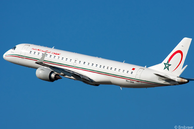 On July 15, 2014, Embraer announced Royal Air Maroc would soon become an operator of the Embraer 190, by leasing four new aircraft from Ireland-based lessor Aldus Aviation
