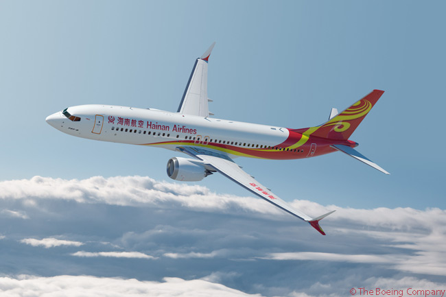 On July 16, 2014, Hainan Airlines announced at the Farnborough International Airshow that it was in the process of finalizing terms and working toward a purchase agreement with Boeing for 50 737 MAX 8s. The order would reaffirm the Chinese airline's preference for an all-Boeing single-aisle fleet, Boeing said