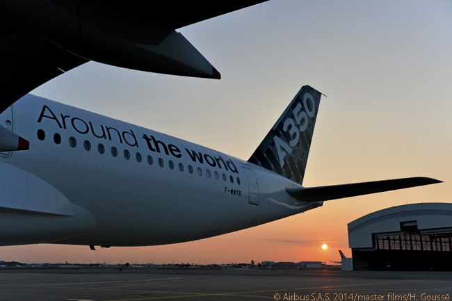 On its global route-proving tour, which began on July 24, 2014, Airbus A350-900 flight-test aircraft MSN005 – which is equipped with a full passenger cabin –  would be operated by Airbus flight crews, with participation of airworthiness authority pilots from the European Aviation Safety Agency